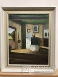 Картина Интерьером Сельского Дома. Автор L. Johansson.