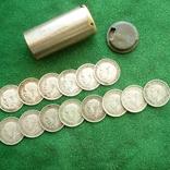 Копилка трехпенсовых монет 1911 - 1938 гг. (14 шт). photo 1