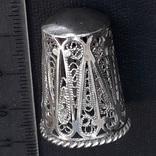 Напёрсток, наперсток, серебро, 7- грамм, филигрань, фото №4