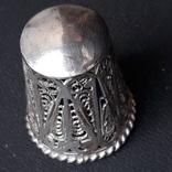 Напёрсток, наперсток, серебро, 7- грамм, филигрань, фото №5