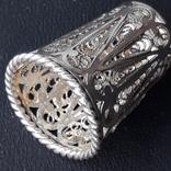 Напёрсток, наперсток, серебро, 7- грамм, филигрань, фото №9