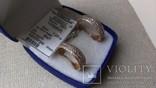 Серьги золото 585, вставки цирконы., фото №3