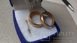 Серьги золото 585, вставки цирконы., фото №8