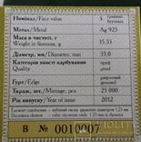 Год Змеи , Рік Змії 5 грн. 2012 рік №сертификата 0010007 фото 5
