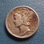 10 центов 1941 S  США    серебро   (Z.2.3)~, фото №2
