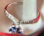 Кольцо из белого золота с сапфирами и бриллиантами photo 6