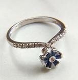 Кольцо из белого золота с сапфирами и бриллиантами photo 10