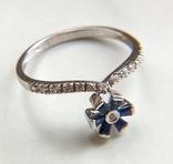 Кольцо из белого золота с сапфирами и бриллиантами photo 11