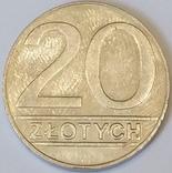 Польща 20 злотих, 1990