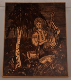 Картина резьба по дереву. 42 х 33,5 см. фото 1