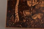 Картина резьба по дереву. 42 х 33,5 см. фото 2