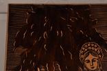 Картина резьба по дереву. 42 х 33,5 см. фото 6