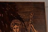 Картина резьба по дереву. 42 х 33,5 см. фото 7