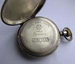 Часы карманные Blondel . Двойная крышка . Серебро, фото №4