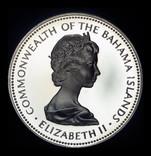 Багамские острова 5 долларов 1973 пруф серебро 42,12 грамм 925 пробы photo 2