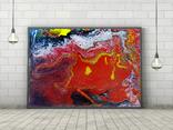 Оранжевый флюид 1 (акрил/оргалит) 35х45 см, фото №6