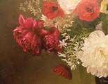 "Натюрморт ""Букет в бронзовой вазе"" 70х75 см, х/м, Костенко А.С. фото 4"
