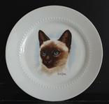 Фарфоровая, настенная тарелка с котом.Bareuther. Германия photo 1