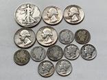 14 Монет Серебром США photo 1