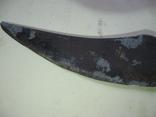 Старинный нож, состояние на фото, часть рукояти из желтого металла, фото №6