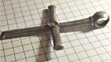 Византийский серебряный крест photo 4