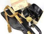 Сабля морского офицера с чехлом и поясом в родной коробке photo 1
