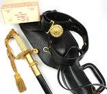 Сабля морского офицера с чехлом и поясом в родной коробке photo 4