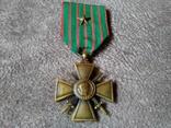 Военный Крест 1914-1918 годов Франция, фото №2