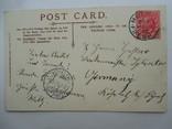 Иностранная Почтовая карточка корабли в порту с маркой того времени, фото №3