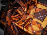 Longchamp,paris,оригинал, коричневый шелковый платок,натуральный саржевый шелк,новый., фото №4