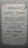 Акция на 500 франков. Нефть. Грозный. 1895 - 1921. фото 2