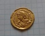 Золотий Солід Valentiniana III, фото №2