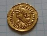 Золотий Солід Valentiniana III, фото №3