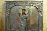 Икона Иоанн Креститель в кованном серебряном окладе с эмалями. photo 2