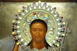 Икона Иоанн Креститель в кованном серебряном окладе с эмалями. photo 3