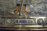 Икона Иоанн Креститель в кованном серебряном окладе с эмалями. photo 5