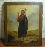 Икона Иоанн Креститель в кованном серебряном окладе с эмалями. photo 8