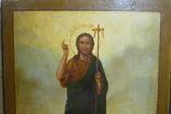 Икона Иоанн Креститель в кованном серебряном окладе с эмалями. photo 9