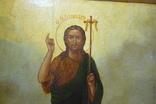 Икона Иоанн Креститель в кованном серебряном окладе с эмалями. photo 10