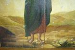Икона Иоанн Креститель в кованном серебряном окладе с эмалями. photo 11