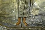 Икона Иоанн Креститель в кованном серебряном окладе с эмалями. photo 12