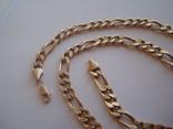 Золотая цепочка плетение Картье, фото №3