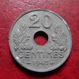 20 сантим 1943  Франция цинк    (А.4.16)~, фото №2