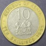 10 шилінгів Кенія 1995, фото №2