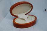 Коробочка овальная для сережек, комплекта, часов, браслета, фото №2
