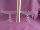 Вазы - конфетницы на ножке.  Мальцевское стекло. Россия, до 1917 г., фото №4