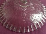 Вазы - конфетницы на ножке.  Мальцевское стекло. Россия, до 1917 г., фото №8