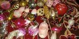 Игрушки новогодние разные на прищепке