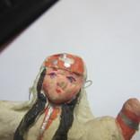Елочная игрушка. Азиатка (вата), фото №6