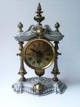 Старинные каминные часы. Gustav Becker.